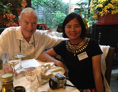 Don Junkins and his wife Kaimei in Venice, Italy, 2014